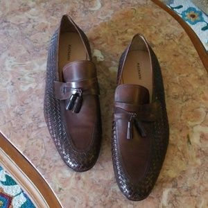 NWT  Magnanni brown leather loafers